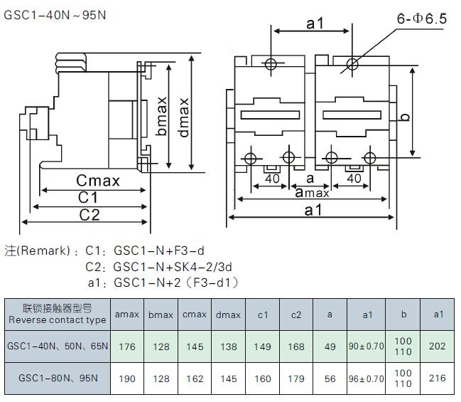 联锁接触器的全型号及名称;     2.控制线圈的频率及电压;     3.