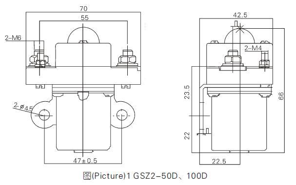 gsz2-100d 单极直流接触器_工业控制_低压电器_自动化